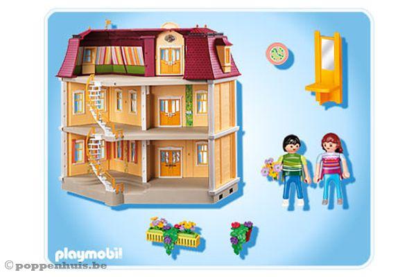 Playmobil groot woonhuis for Groot poppenhuis