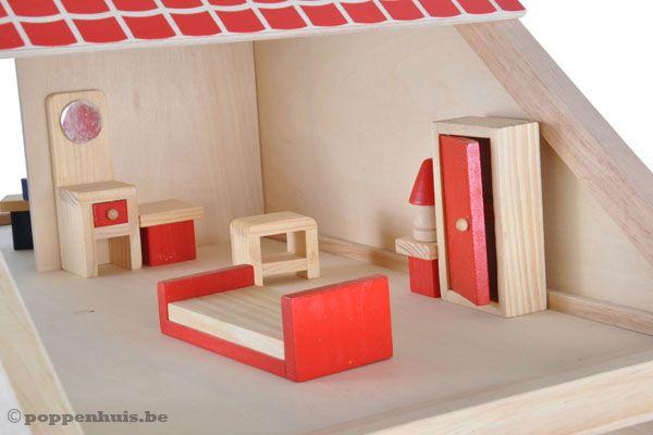 Houten Accessoires Slaapkamer : Woodtoys houten poppenhuis poppenhuis be
